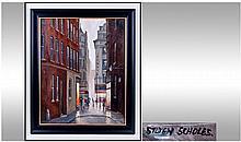 Steven Scholes 1952 - ,Titled Market Street,