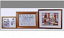 Jill W. Aldersley. A collection of 3 Watercolours,