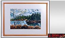 Framed Watercolour Titled ''Beacon in Fell''.