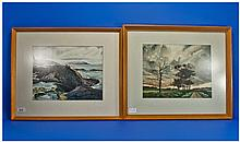Pair Of Framed Watercolours Signed Lower Left