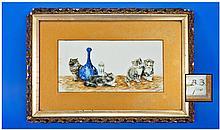 Bessie Bamber (fl.1900-1910) -Oil On Opaque Glass