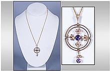 Victorian - Fine 9ct Gold Set Seed Pearl and