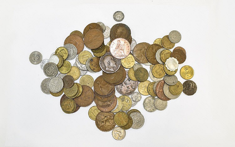 A Mixed Collection Of Coins A large bag of mixed v