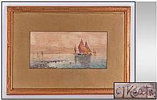 Cecil Jack Keats. circa 1880. Italian sailing