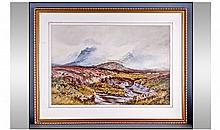 J Sinclair 19th Century Artist Moors Landscape.