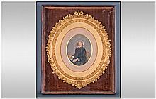 Portrait Miniature depicting an elderly lady
