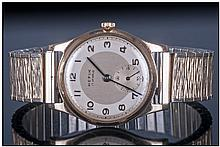 Gents 9ct Gold Hefik Wristwatch, 2 Tone Dial with