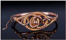 Edwardian Ladies 9ct Gold Triple Rings Hinged