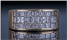 18ct Gold 3 Channel Set Diamond Ring. Consisting