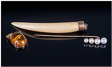 Collection Of Gold Jewellery. Comprising stick pin