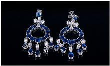 Pair Of Ladies 18ct White Gold Diamond And