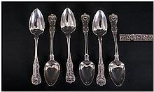 Scottish Mid 19th Century Silver Set Of Six