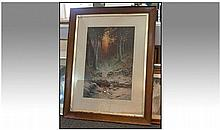 A Large Framed Coloured Print by Frost and Read,