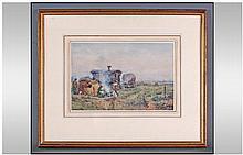 Herbet Royle (1870-1958). Gypsy encampment