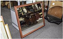 Large Rectangular Modern Mirror 37 x 42 Inches