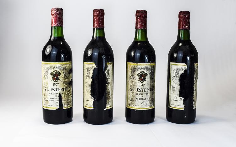 St.Estephe1967BottleofWine/BordeauxGrandVinChateau(4)Bottles