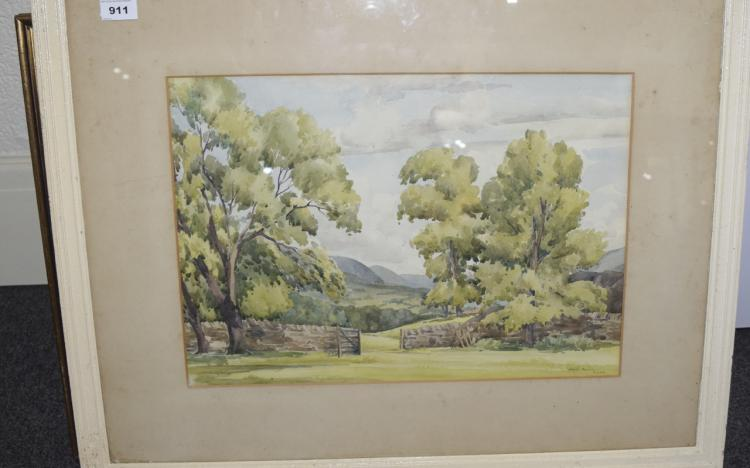CountrysideWatercolourDated1949