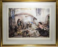 WilliamRussellFlint1880-1969PencilSignedLtdEditionColourPrint/