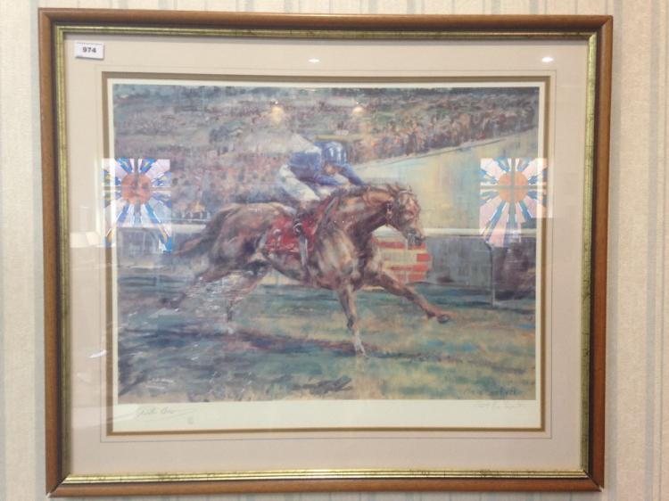 HorseRacingInterestFramedLimitedEditionPrint,WillieCarsonNashwan,