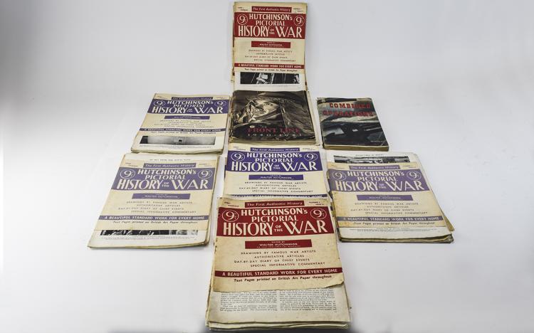 SmallLotOfMilitaryMagazines,HutchinsonsPictorialHistoryOfTheWar,