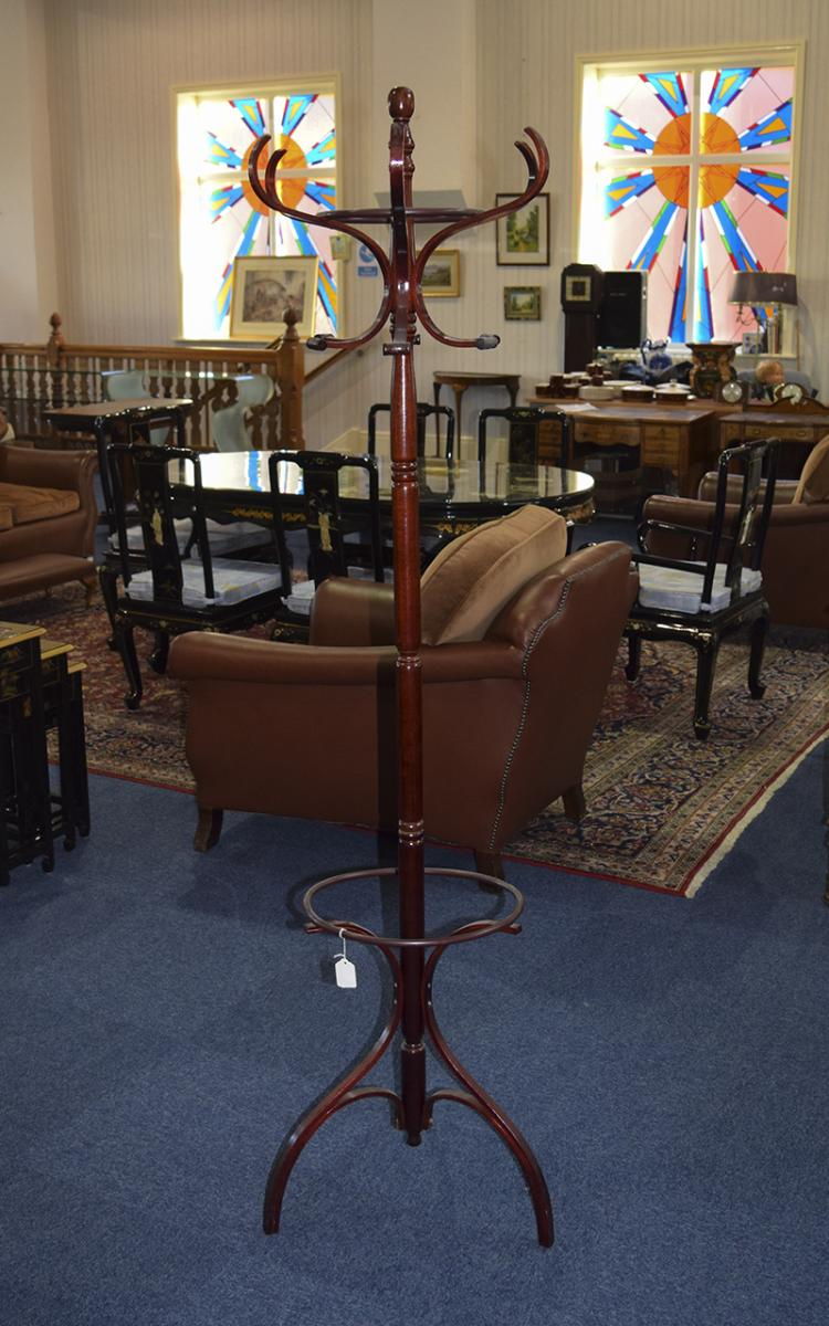 AntiqueMahoganyBentwoodCoatandHatStand.Height6Feet3InchesHigh.