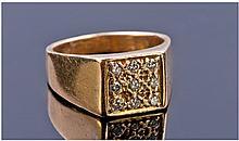 14 Carat Gold Set Diamond Cluster Ring set with 9