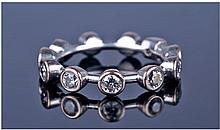 Diamond White Gold Full Eternity Ring, Set With 11