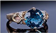 9ct Gold Diamond And Gemset Cluster Ring, Central