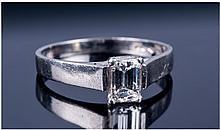 Platinum Diamond Solitaire Ring, Set With A Single