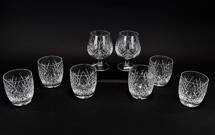 Waterford crystal collection of cut crystal glasses eight it - Waterford cognac glasses ...