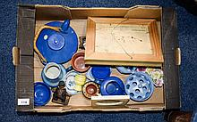 A Box Of Assorted Pottery including Wedgwood flower posies studio pottery,  Shelly vase etc