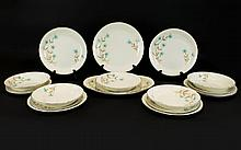British Anchor Part Dinner Set ( 19 ) Pieces In Total. Comprising Dinner Plates, Side Plates, Oval Dish and Soup Bowls, Full Marks to Base.