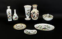 Small Collection of Ceramics including Wedgwood Cuckoo design dressing table items 4 in total, 2 Wedgwood Kutani Crane vases & Mason's ware vase. 8 pieces in total various sizes.