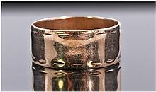 9ct Gold Wedding Band. Hallmark Sheffield 1968.