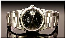 Rolex Oyster Perpetual Date Just Brush Steel And