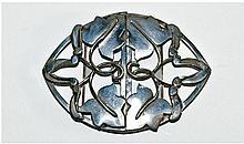 Art Nouveau Fine Silver Buckle. Circa 1900-1910.