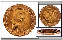 Russian Nicholas II Gold 5 Roubles, Date 1910, E.F