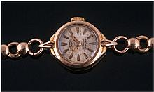 Rotary 9ct Gold Manual Wind Ladies Wristwatch