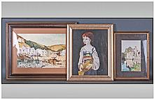 Three Various Decorative Framed Oil. Comprises