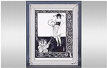 Aubrey Beardsley Black and White Framed Print.