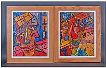 Robert Haworth 20th Century Artist Pair Of Prints.