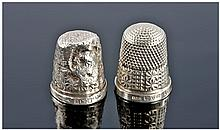 Two Silver Thimbles, A/F Both Fully Hallmarked