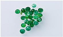 Collection Of Loose Emeralds, Polished Cabochon,