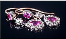 A Very Fine Vintage Pair Of Natural Ruby And