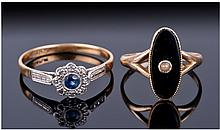 Early 20thC 18ct Gold & Platinum Sapphire And