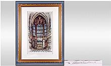 Original Etching by Edward W. Sharland, Pencil