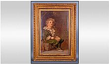 Pears Print of The Bubble Boy in gilded frame. 25