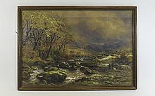 John Steeple (British, 1823-1887) Framed Watercolour, Welsh Landscape With