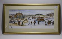 Framed Coloured Limited Edition Print entitled ' The Seaside' by Alan Torti