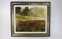 Timmy Mallett signed limited edition Print. Poppy Field Landscape. Numbered